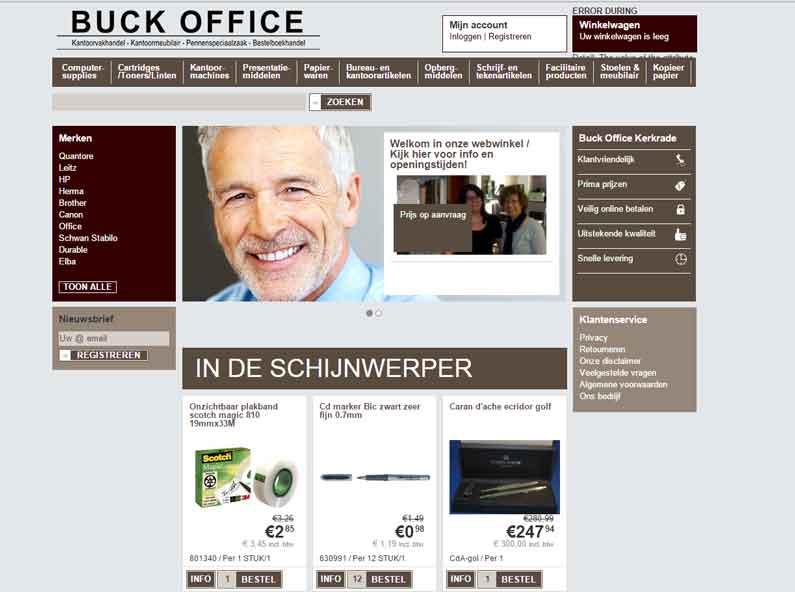 Buck kantoorhandel webshop